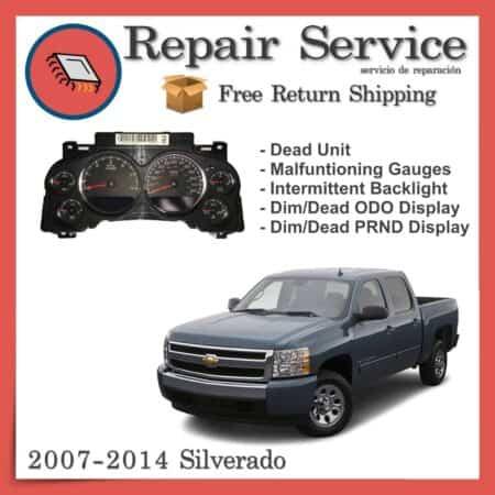 2007-2014 Chevrolet Silverado Gauge Cluster Repair Service