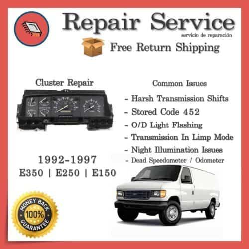 PSOM Repair 1992-1997 Ford E150 E250 E350 E450 Econoline | Gauge Cluster Repair Service