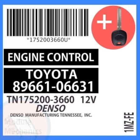 89661-06631 ECU & Programmed Master Key for Toyota Solara | OEM Denso