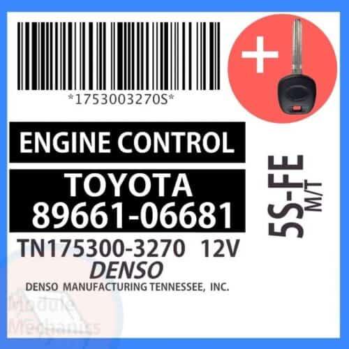 89661-06681 ECU & Programmed Master Key for Toyota Solara | OEM Denso