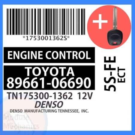 89661-06690 ECU & Programmed Master Key for Toyota Solara | OEM Denso