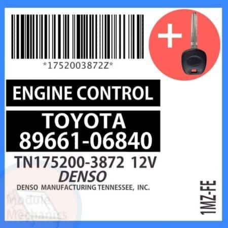89661-06840 ECU & Programmed Master Key for Toyota Solara   OEM Denso