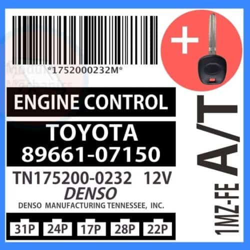 89661-07150 ECU & Programmed Master Key for Toyota Avalon   OEM Denso