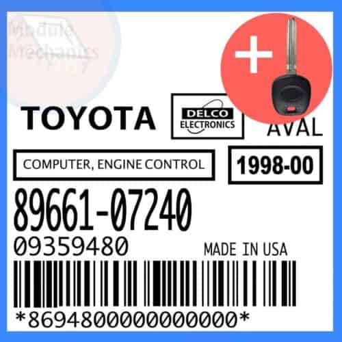 89661-07240 ECU & Programmed Master Key for Toyota Avalon   OEM Delco