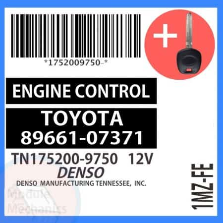 Check out our replacement OEM ECU with included programmed master key! Compatible: 2002 2003 Toyota Avalon OEM Part Number:89661-07371 | 8966107371 | TN175200-9750 | TN1752009750 (See description for more details)