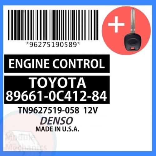 89661-0C412-84 ECU W/ Programmed Master Key Toyota Sequoia