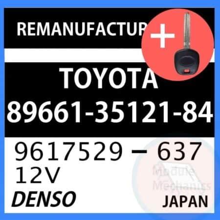 89661-35121-84 ECU & Programmed Master Key for Toyota 4Runner   OEM Denso