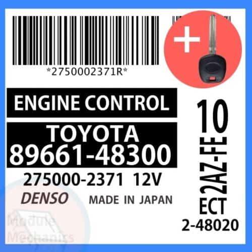 89661-48300 ECU & Programmed Master Key for Toyota Highlander | OEM Denso