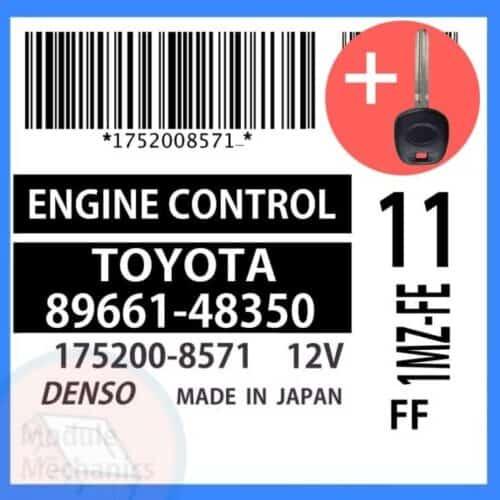 89661-48350 ECU & Programmed Master Key for Toyota Highlander   OEM Denso
