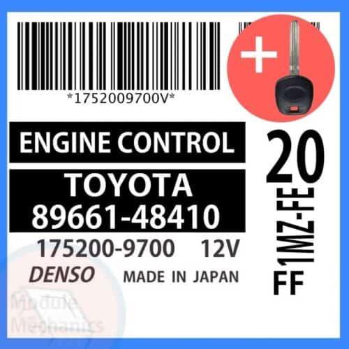 89661-48410 ECU & Programmed Master Key for Toyota Highlander   OEM Denso