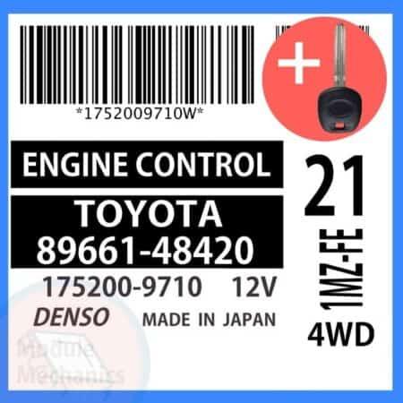 89661-48420 ECU & Programmed Master Key for Toyota Highlander | OEM Denso
