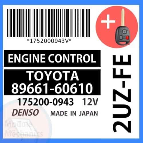Compatible: 1999 Toyota Land Cruiser OEM Part Number: 89661-60610 | 8966160610 | 175200-0943 | 1752000943Compatible: 1999 Toyota Land Cruiser OEM Part Number: 89661-60610 | 8966160610 | 175200-0943 | 1752000943