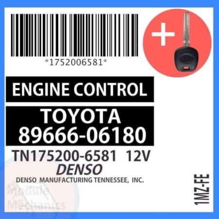 89666-06180 ECU & Programmed Master Key for Toyota Solara   OEM Denso