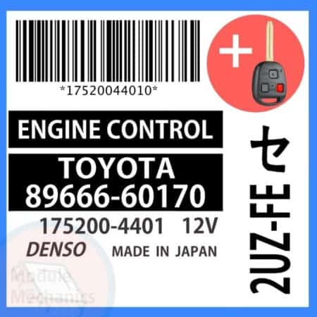 Compatible: 2000 Toyota Land Cruiser OEM Part Number: 89666-60170 | 8966660170 | 175200-4401 | 1752004401