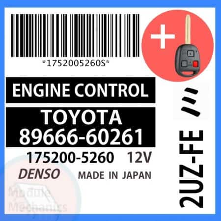 Check out our replacement OEM Denso ECU with included programmed master key! Compatible: 1999 Toyota Land Cruiser OEM Part Number: 89666-60261 | 8966660261 | 175200-5260 | 1752005260 (See description for more details)