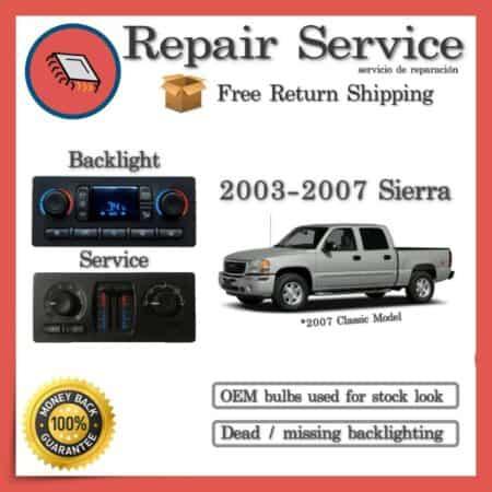 2003-2007 GMC Sierra Climate Control Repair Service