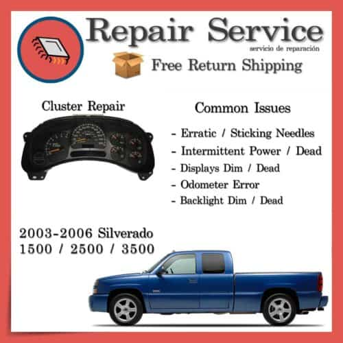 2003-2006 Chevrolet Silverado Instrument Gauge Cluster Repair