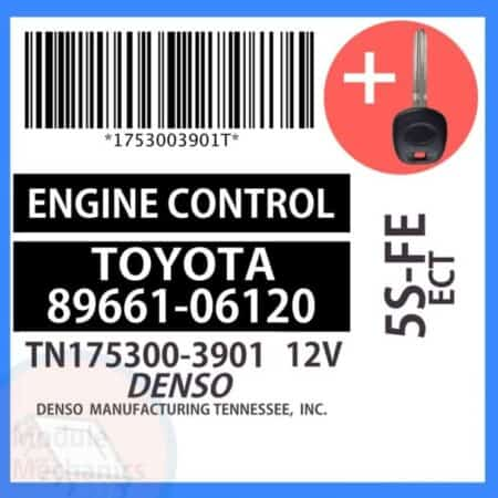 89661-06120 ECU & Programmed Master Key for Toyota Camry   OEM Denso