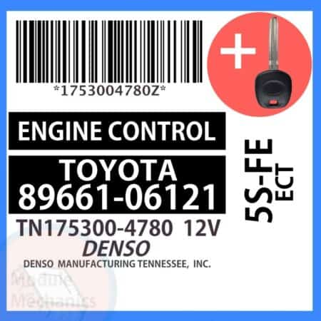 Check out our replacement OEM ECU with included programmed master key! Compatible: 2000 2001 Toyota Camry Solara OEM Part Number: 89661-06121 | 8966106121 | TN175300-4780 | TN1753004780 (See description below for more details)