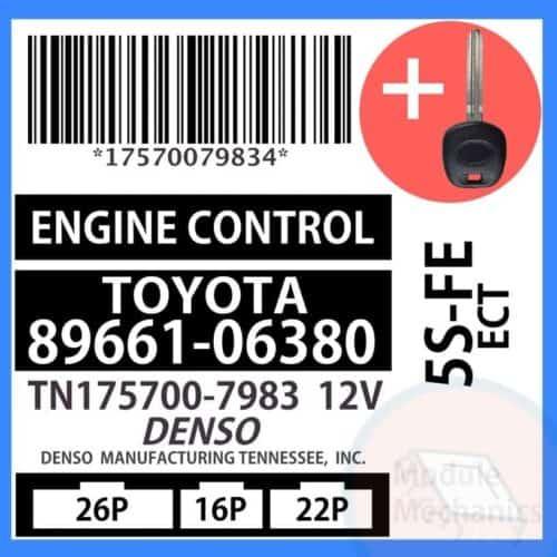 89661-06380 ECU & Programmed Master Key for Toyota Camry   OEM Denso