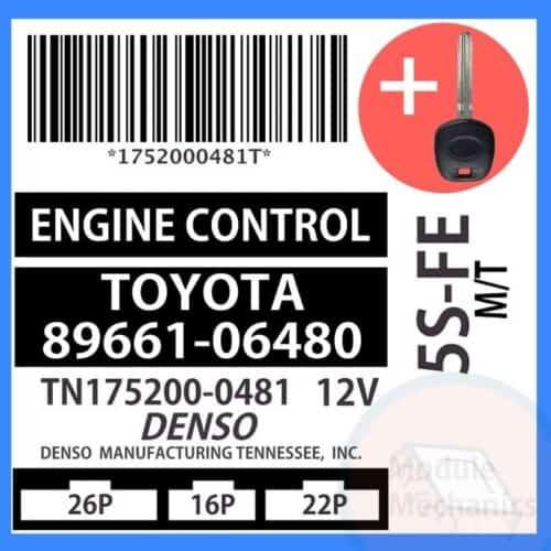 89661-06480 ECU & Programmed Master Key for Toyota Camry | OEM Denso
