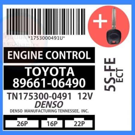 89661-06490 ECU & Programmed Master Key for Toyota Camry   OEM Denso