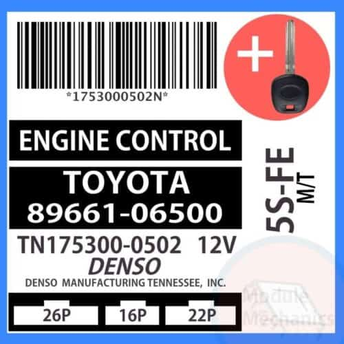 89661-06500 ECU & Programmed Master Key for Toyota Camry | OEM Denso