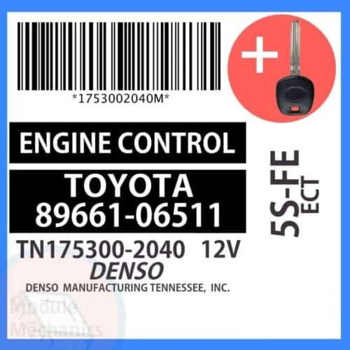89661-06511 ECU & Programmed Master Key for Toyota Camry   OEM Denso