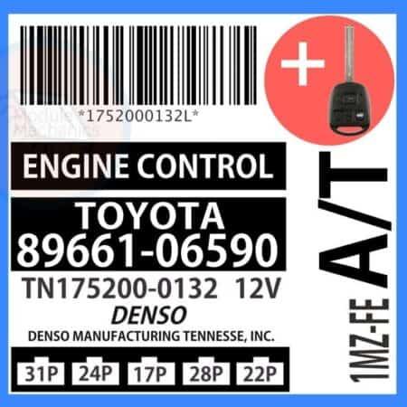 89661-06590 OEM ECU W/ Programmed Master Key Lexus ES300