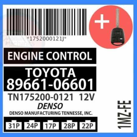 89661-06601 OEM ECU W/ Programmed Master Key Lexus ES300