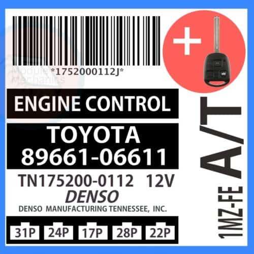 Compatible: 1998 Lexus ES300 OEM Part Number: 89661-06611 | 8966106611 | TN175200-0112 TN1752000112