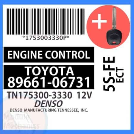 89661-0W091 ECU & Programmed Master Key for Toyota Camry | OEM Denso