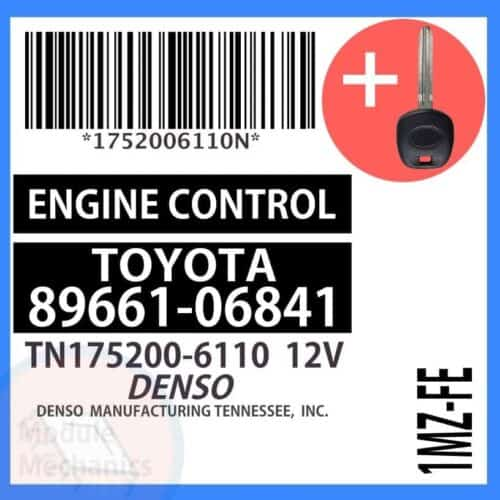 89661-06841 ECU & Programmed Master Key for Toyota Camry   OEM Denso