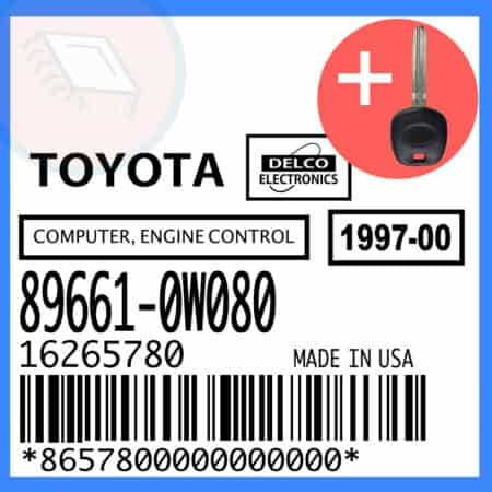 Compatible: 1998 Toyota Camry OEM Part Number:89661-0W080 | 89661-0W080 | 16265780