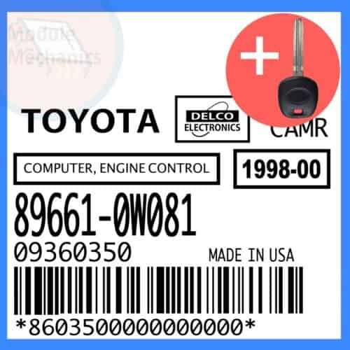 Compatible: 1998 Toyota Camry OEM Part Number:89661-0W081 | 896610W081 | 09360350