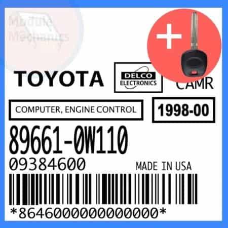89661-0W110 ECU & Programmed Master Key for Toyota Camry | OEM Delco