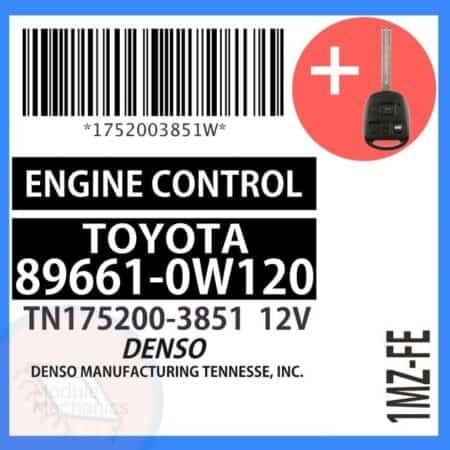 89661-0W120 OEM ECU W/ Programmed Master Key Lexus ES300