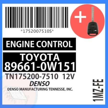 89661-0W151 OEM ECU W/ Programmed Master Key Lexus ES300