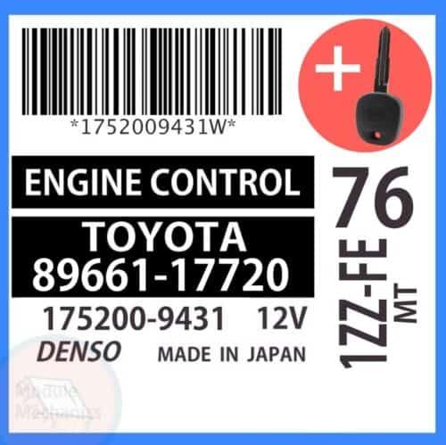 89661-17720 ECU & Programmed Master Key for Toyota MR2   OEM Denso