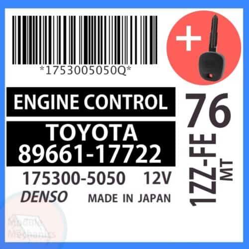 89661-17722 ECU & Programmed Master Key for Toyota MR2 | OEM Denso