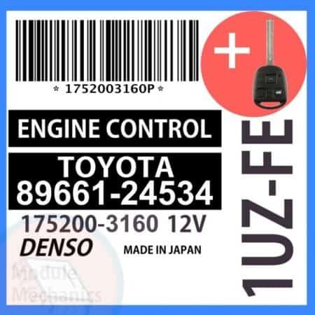 Compatible: 1998 Lexus SC400 OEM Part Number: 89661-24534 | 8966124534 | 175200-3160 | 17523160