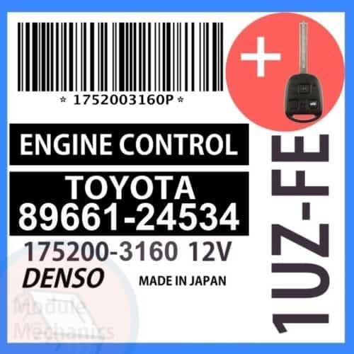 Compatible: 1998 Lexus SC400 OEM Part Number: 89661-24534   8966124534   175200-3160   17523160