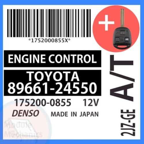 Compatible: 1998 Lexus SC300 OEM Part Number: 89661-24550 | 8966124550 | 175200-0855 | 1752000855