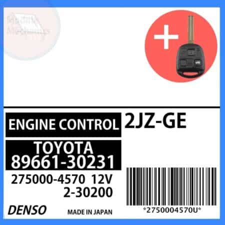 89661-30231 OEM ECU W/ Programmed Master Key Lexus GS300