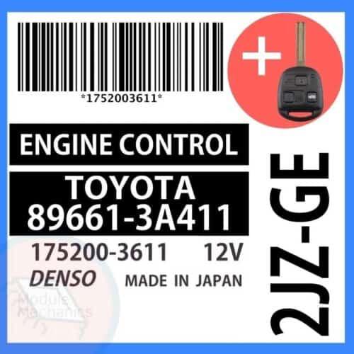 89661-3A411 OEM ECU W/ Programmed Master Key Lexus GS300