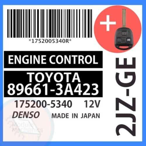 89661-3A423 OEM ECU W/ Programmed Master Key Lexus GS300