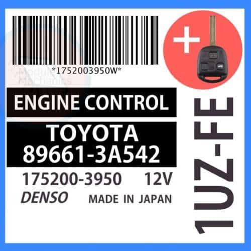 Compatible: 1999 Lexus GS400 OEM Part Number: 89661-3A542  896613A542   175200-3950   1752003950
