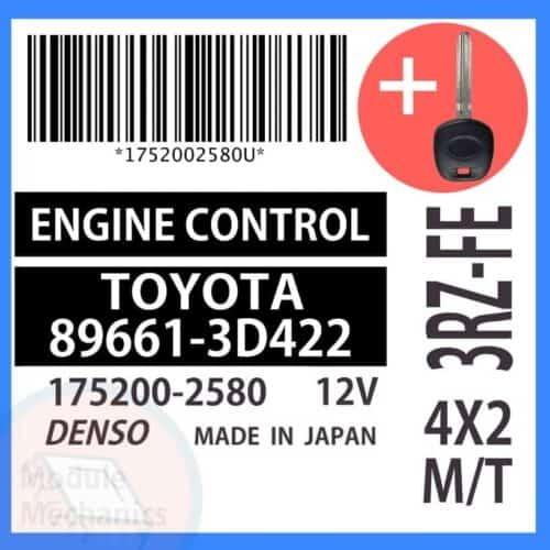 89661-3D422 ECU & Programmed Master Key for Toyota 4Runner | OEM Denso