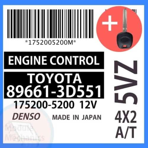 Check out our replacement OEM Denso ECU with included programmed master key! Compatible: 1999 Toyota 4Runner OEM Part Number: 89661-3D551   896613D551   175200-5200   1752005200 (See description below for more details)