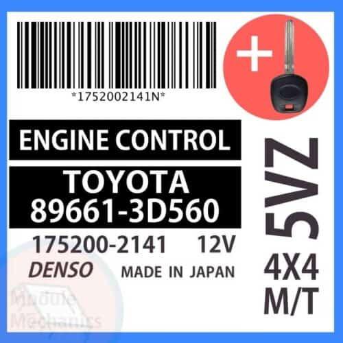 89661-3D560 ECU & Programmed Master Key for Toyota 4Runner   OEM Denso